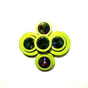 Vintage Vendome Green Crystal Brooch